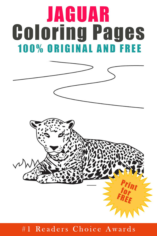 original and free jaguar coloring pages
