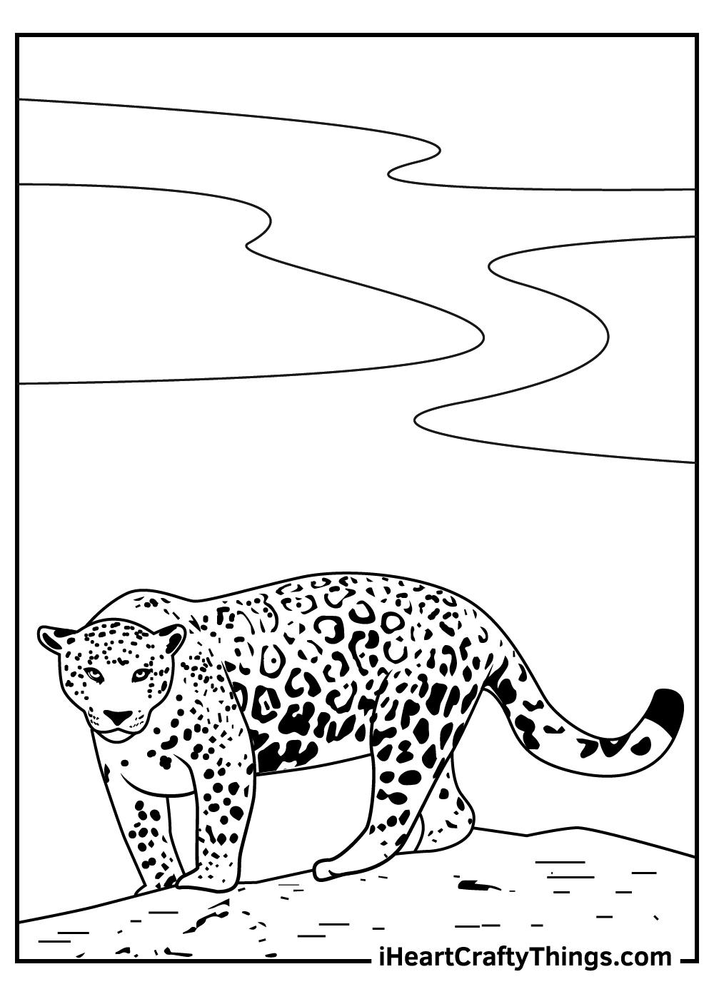 jaguar coloring pages free printables