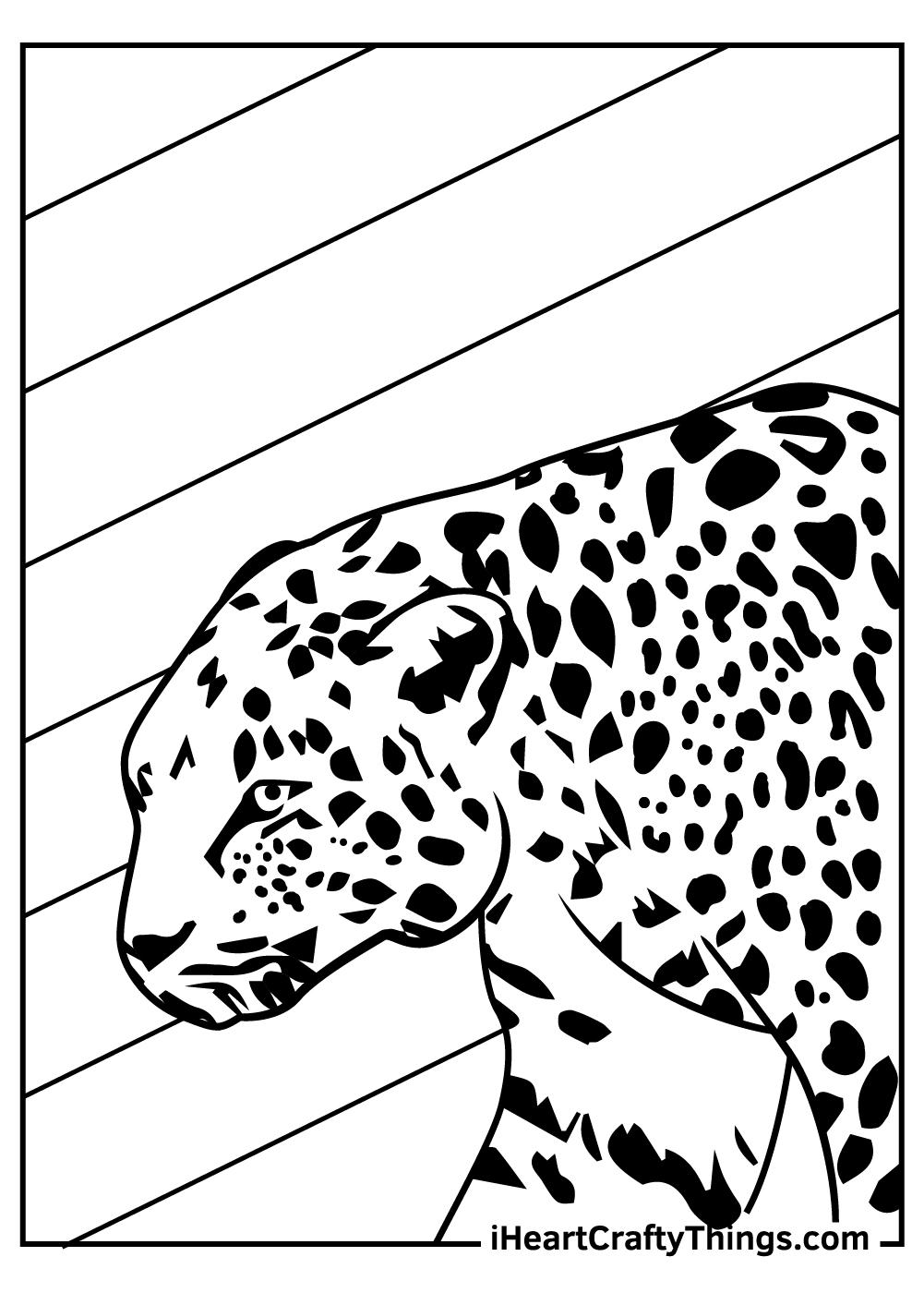 realistic jaguar coloring pages free download