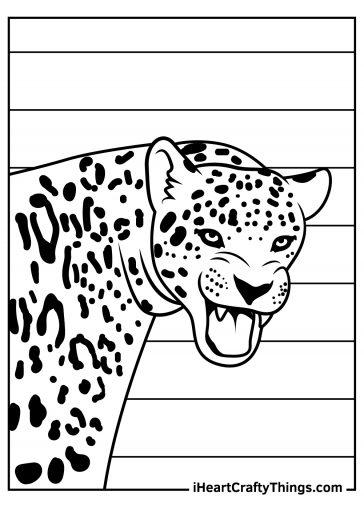 jaguar coloring image