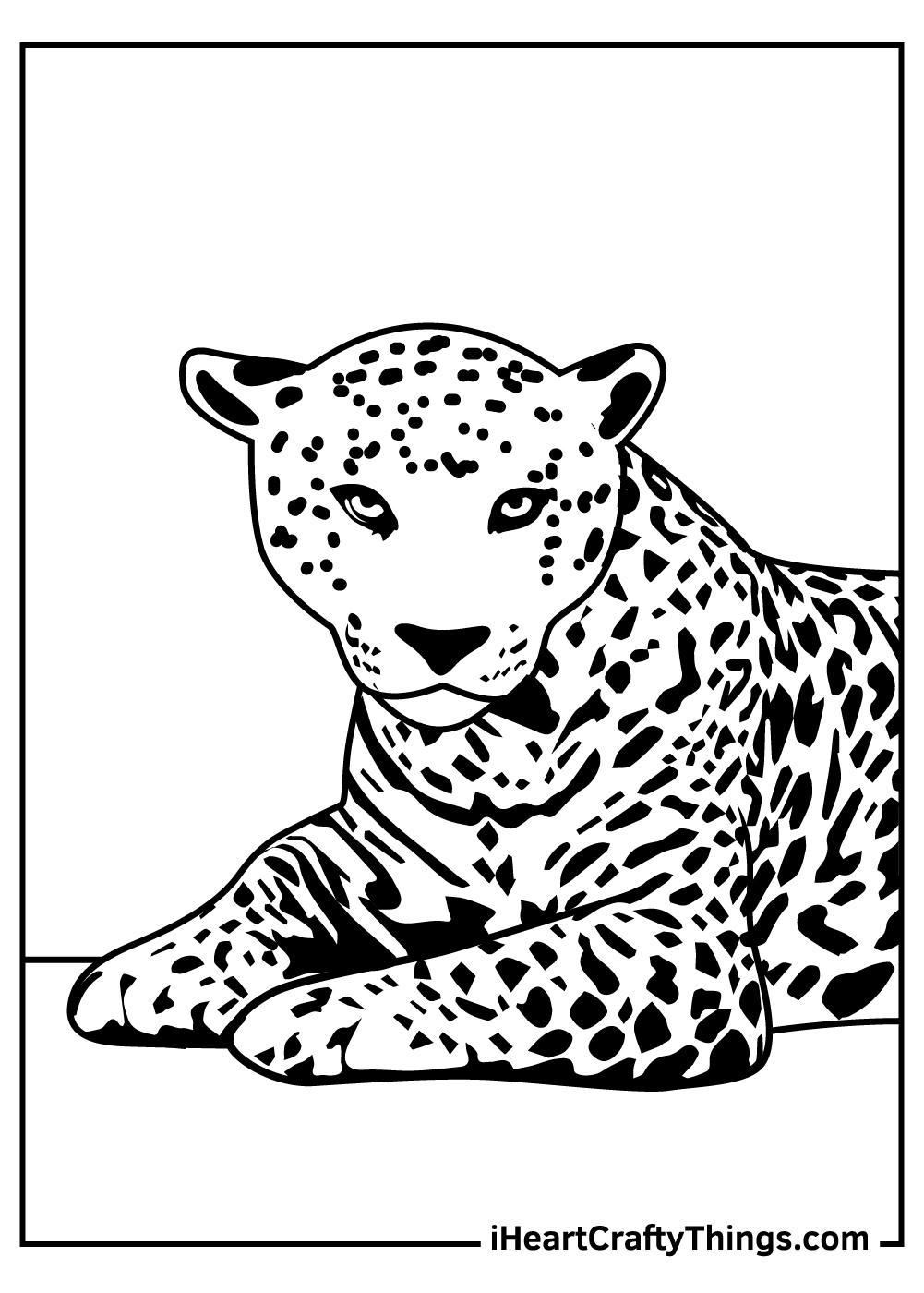 simple jaguar coloring pages free download