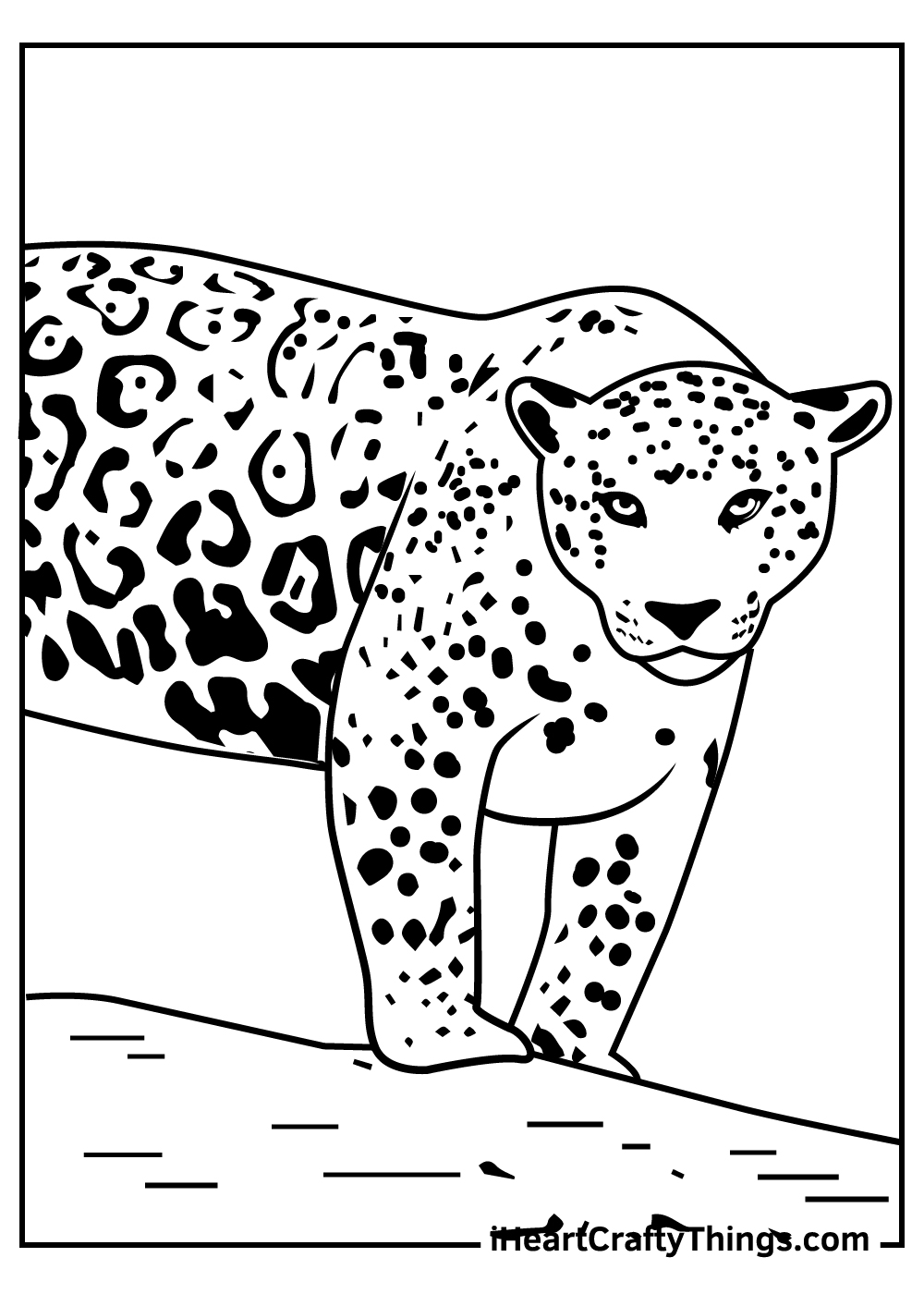 black and white jaguar coloring pages free print