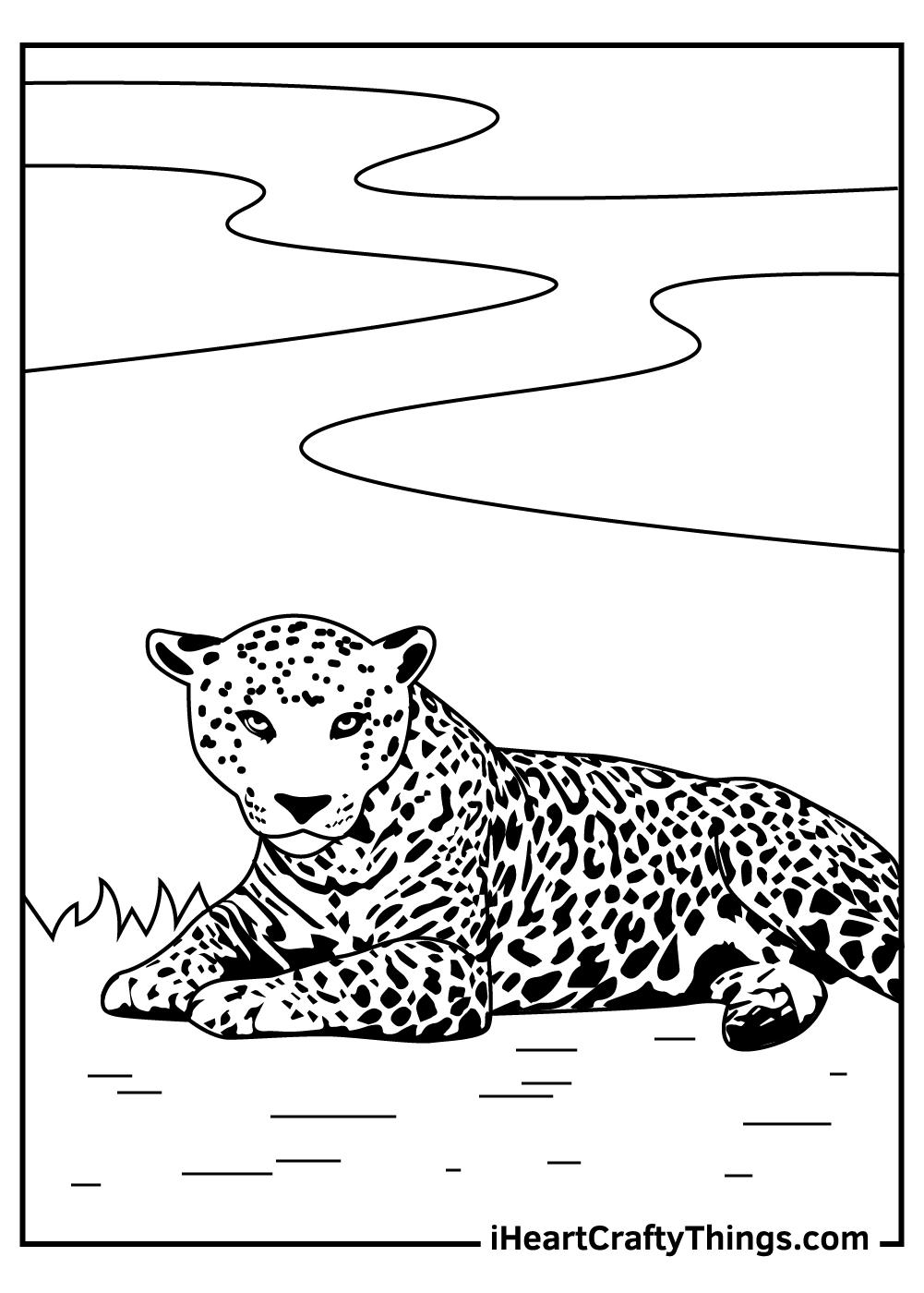 jaguar coloring sheets free printables for preschoolers