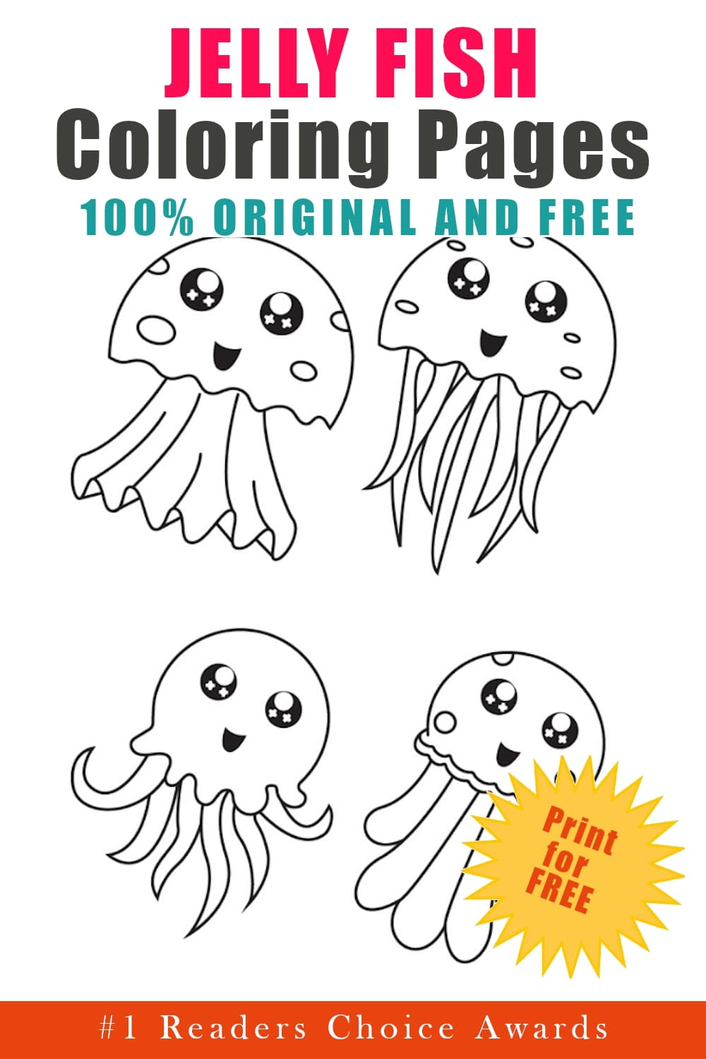 original and free jellyfish coloring pages