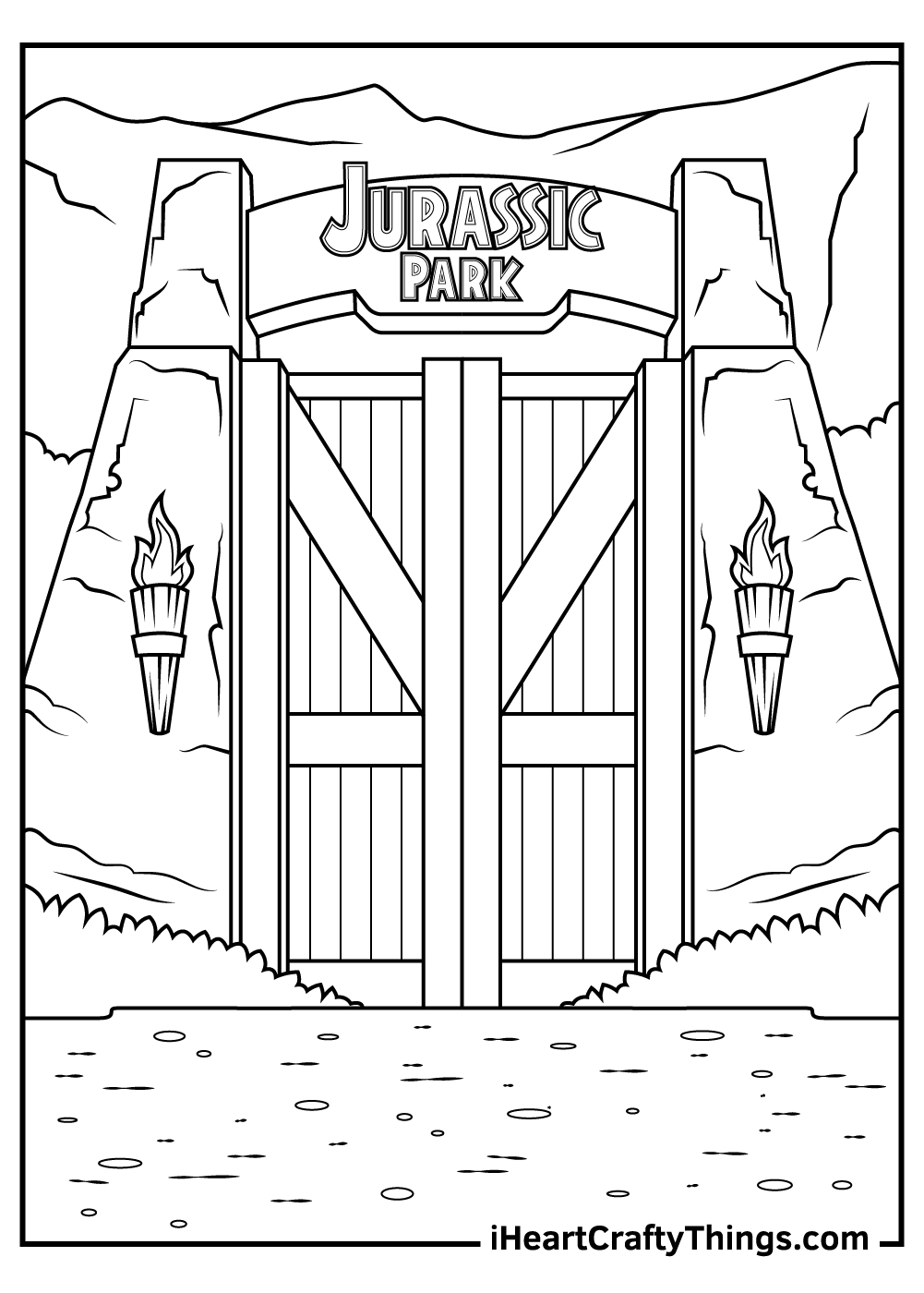 jurassic park coloring pages for kids