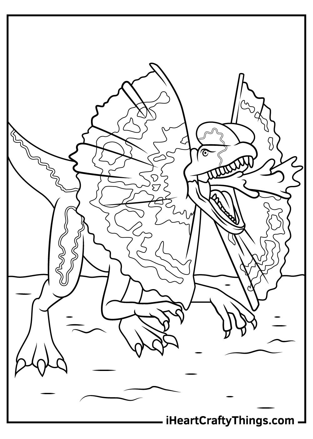 jurassic park coloring pages raptors