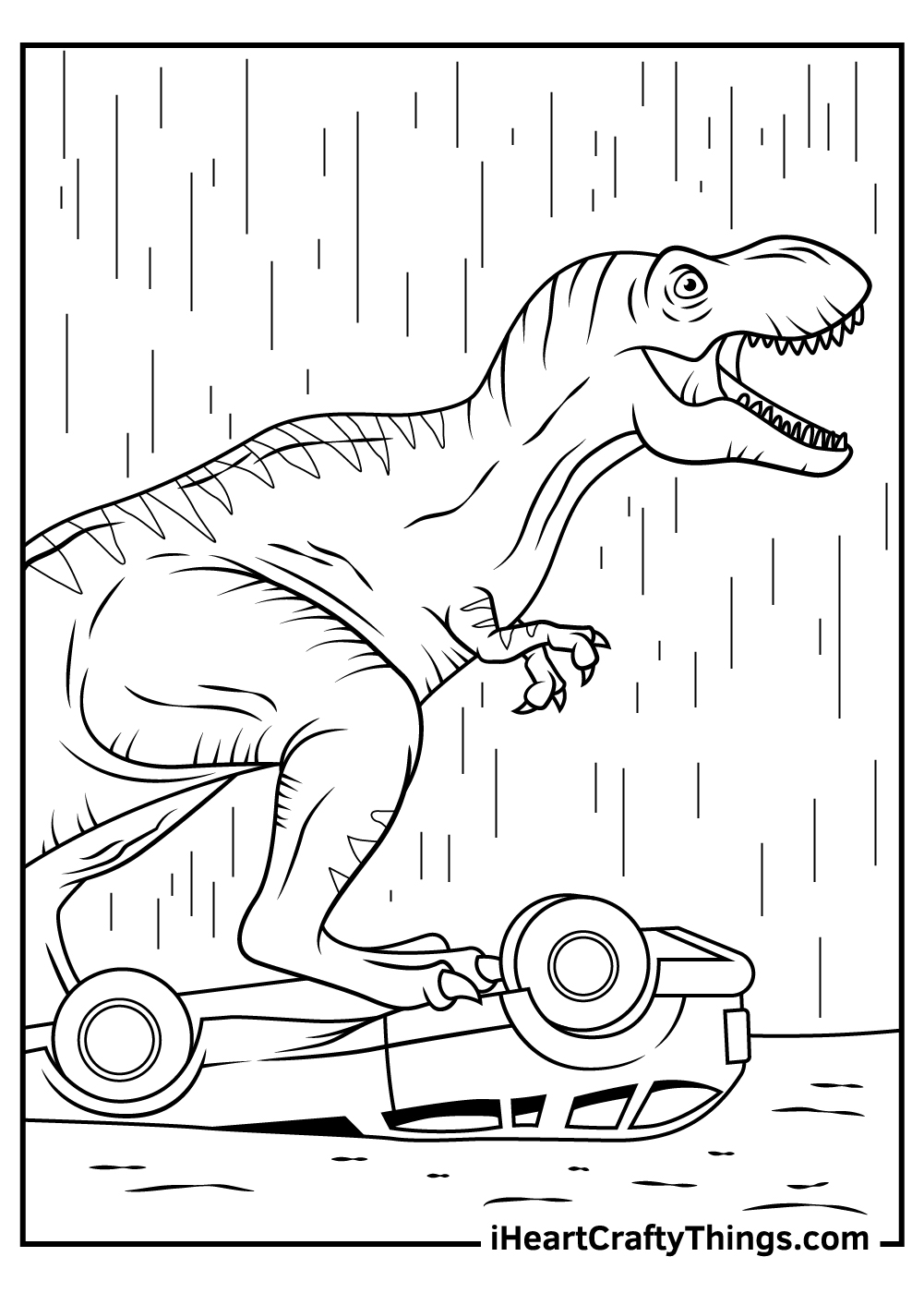 dinosaurs jurassic park coloring pages pdf