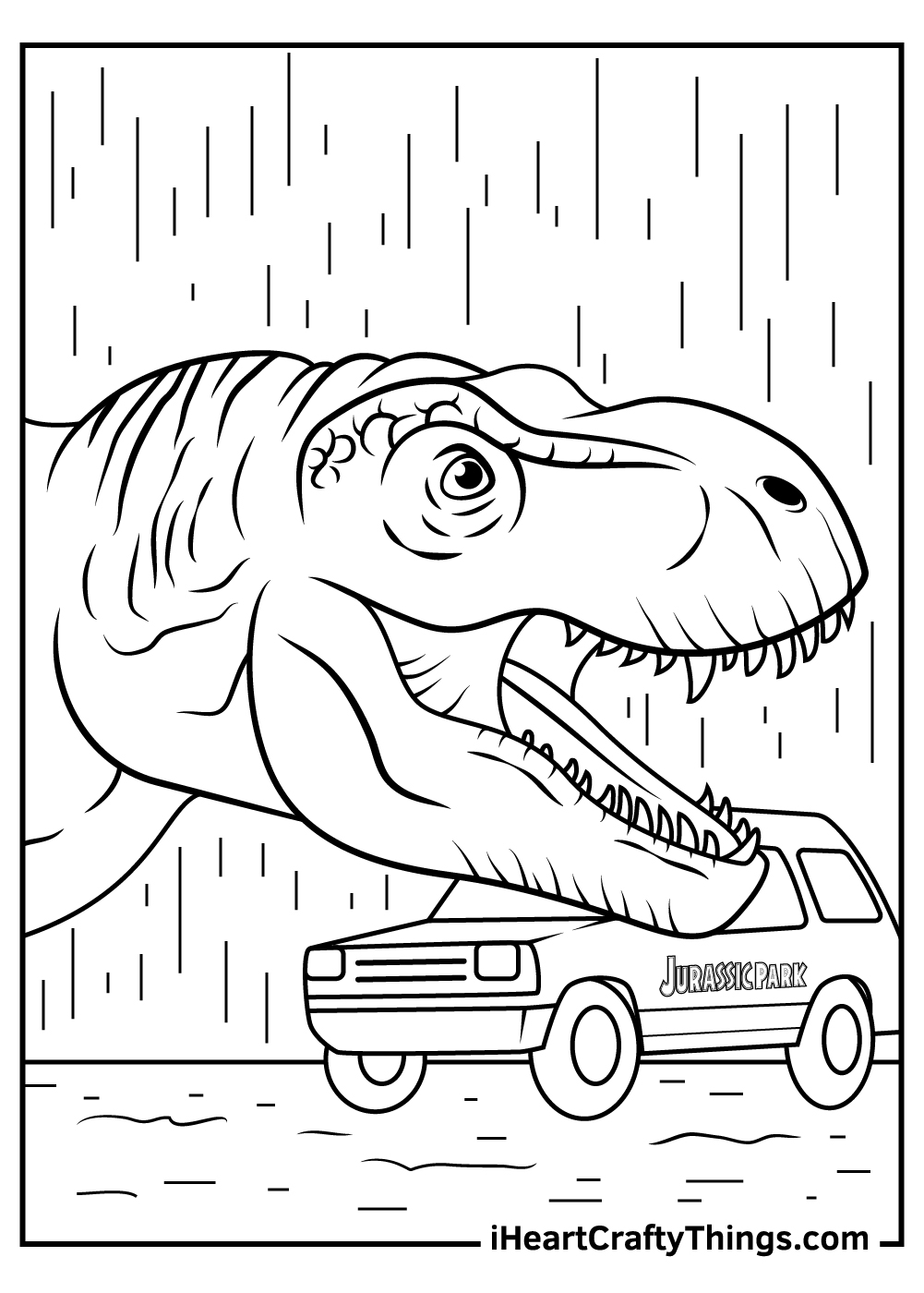 lego dinosaur jurassic park coloring pages printable
