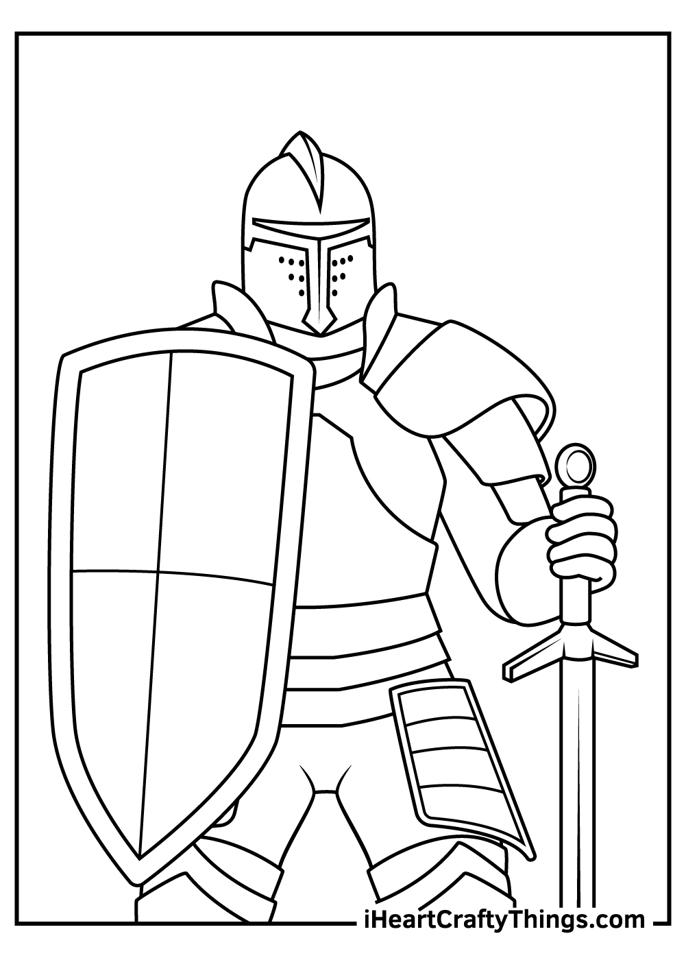 medieval knight coloring pages free download