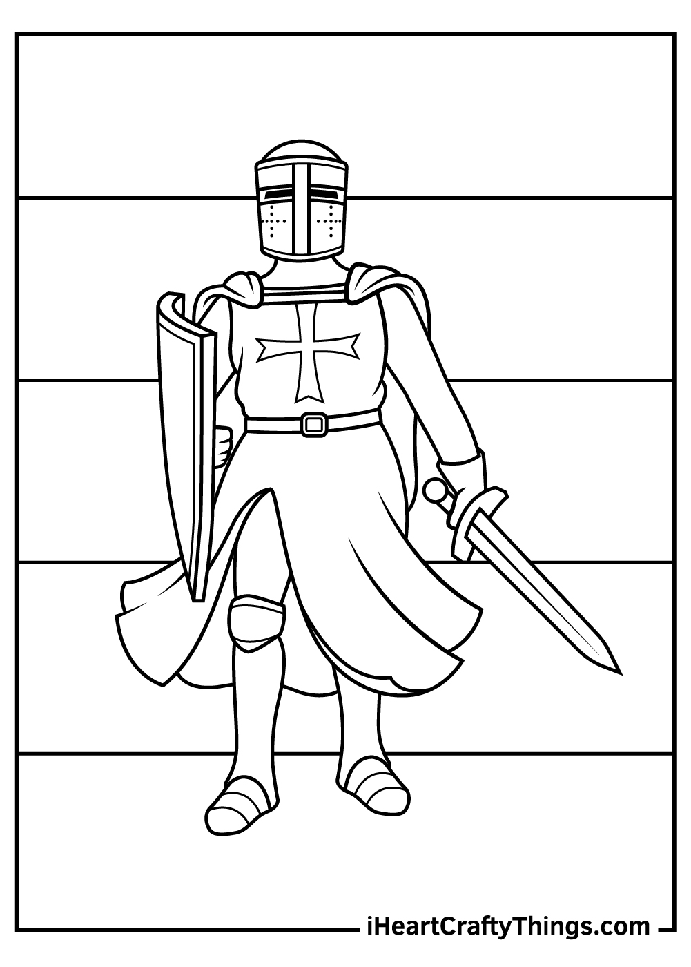 medieval knight coloring pages free print out