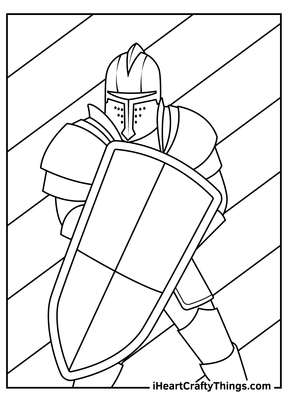 realistic medieval knight coloring pages