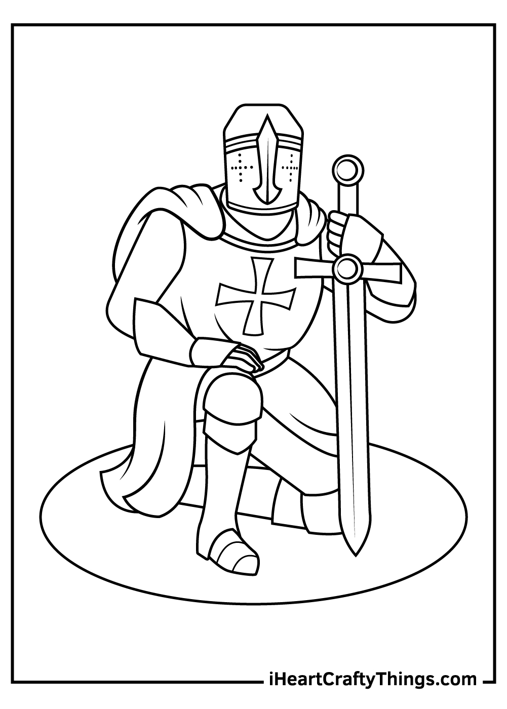 cool medieval ages dark knight coloring pages