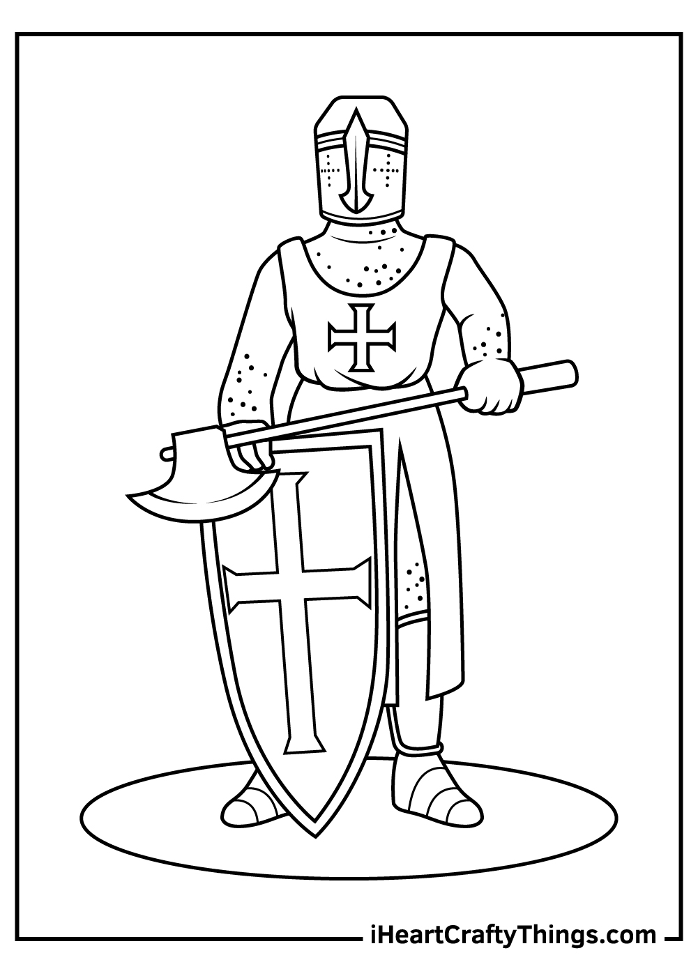 realistic knight black and white coloring pages pdf