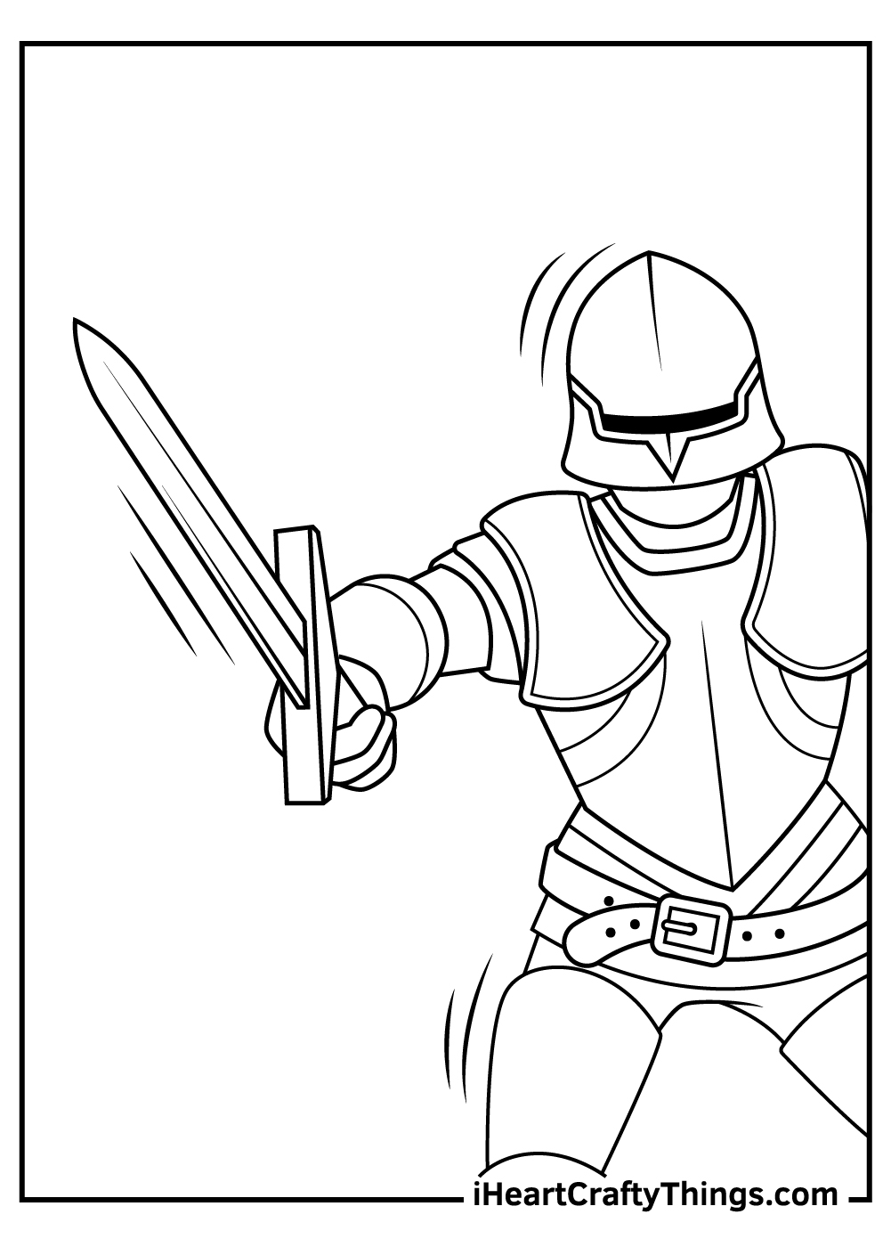 knight coloring pages free printable