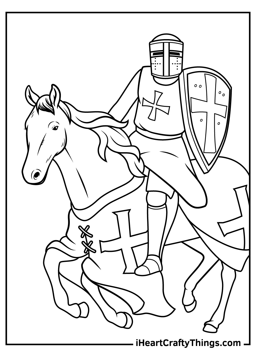 knight on a horse coloring pages free download