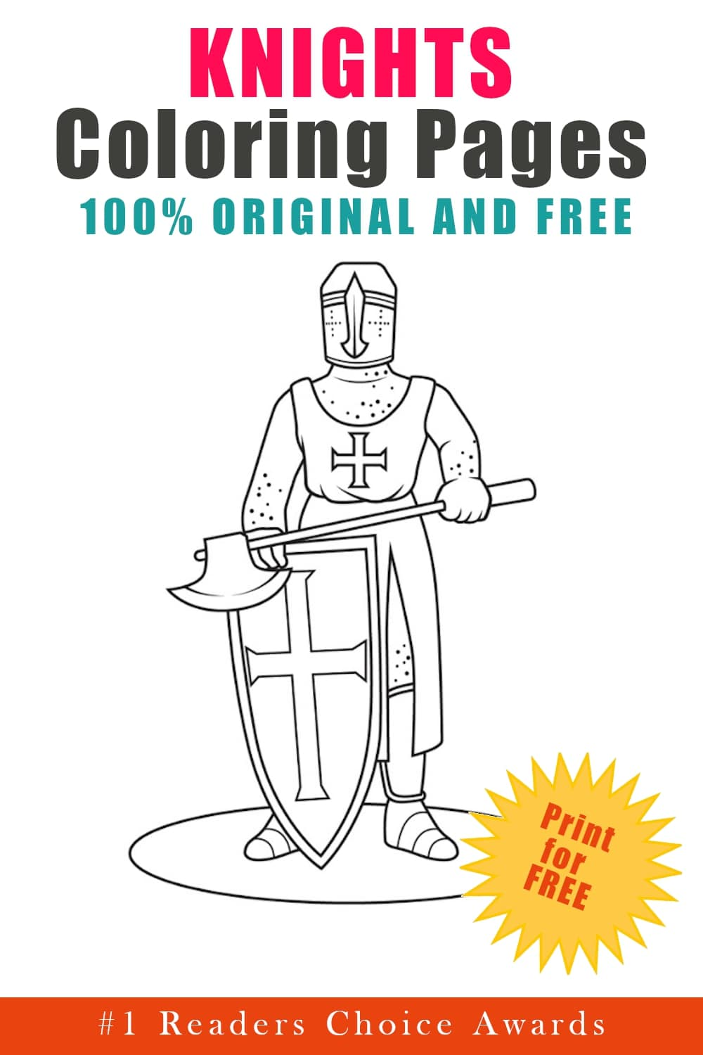 original and free knights coloring pages
