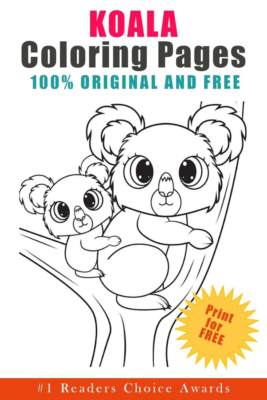original free koala coloring pages