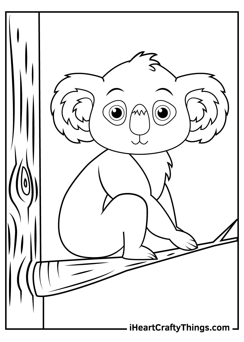 Koalas Coloring Pages free printable pdf