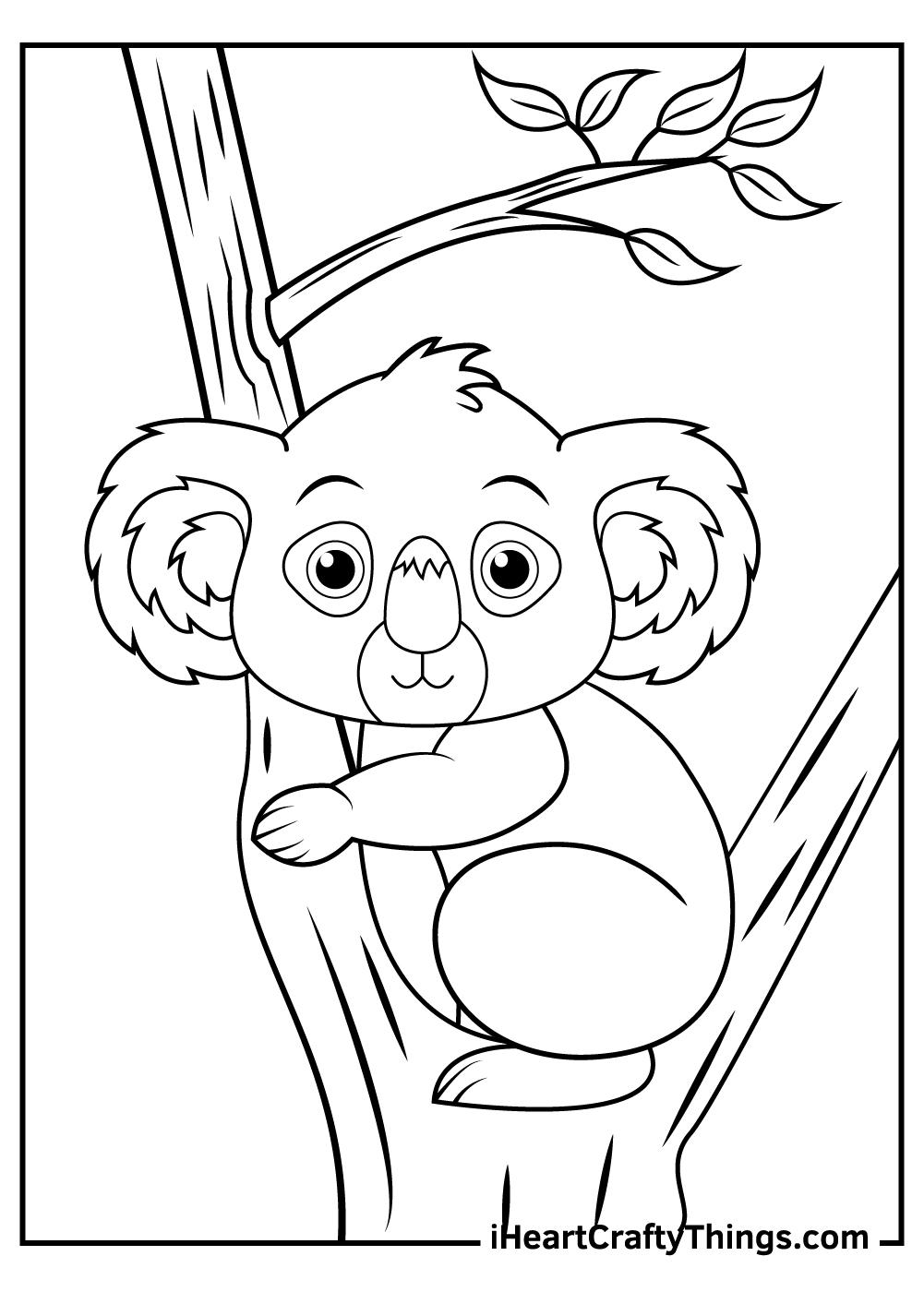 cute koalas coloring pages kids