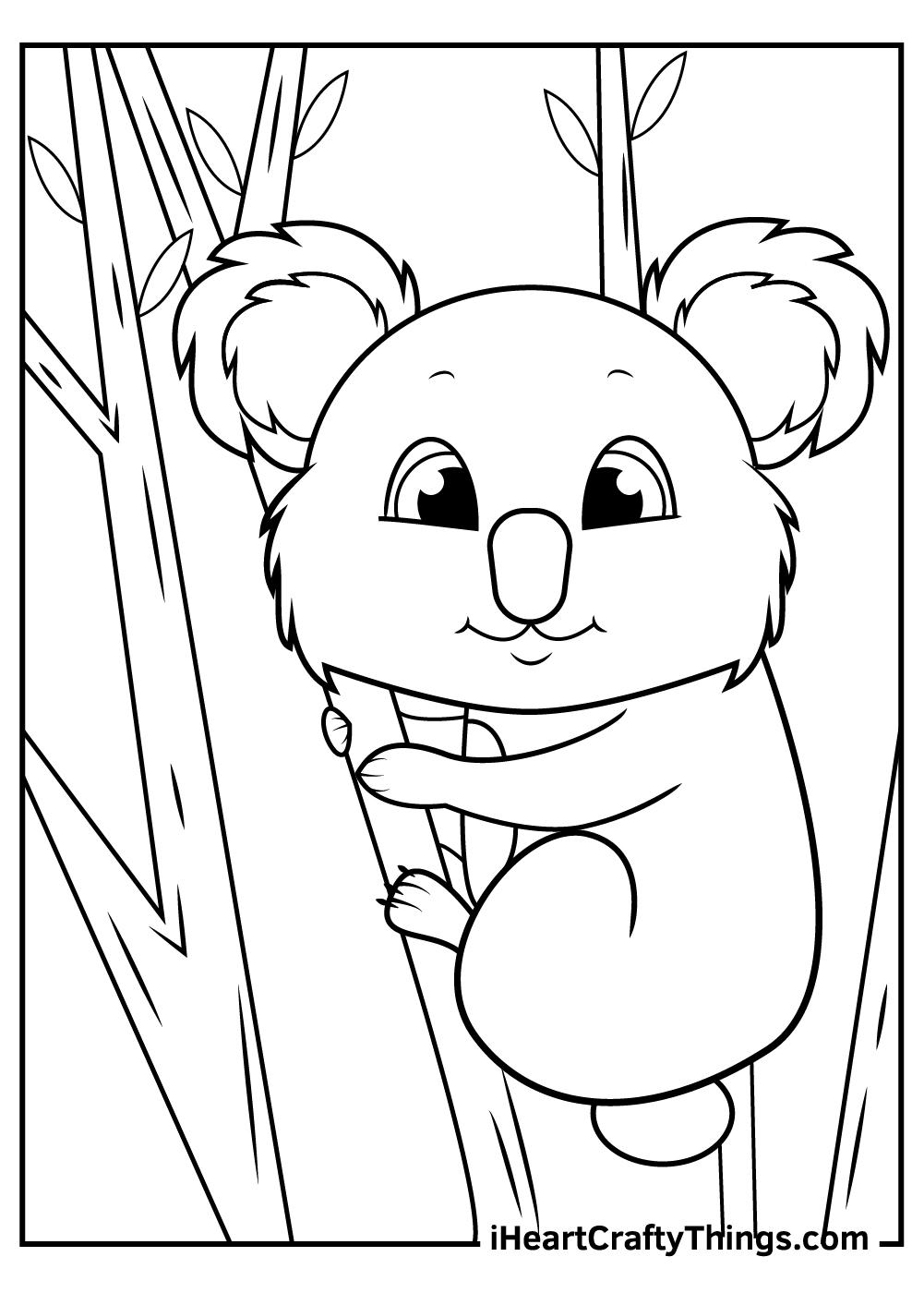 cute koalas coloring sheets for kids