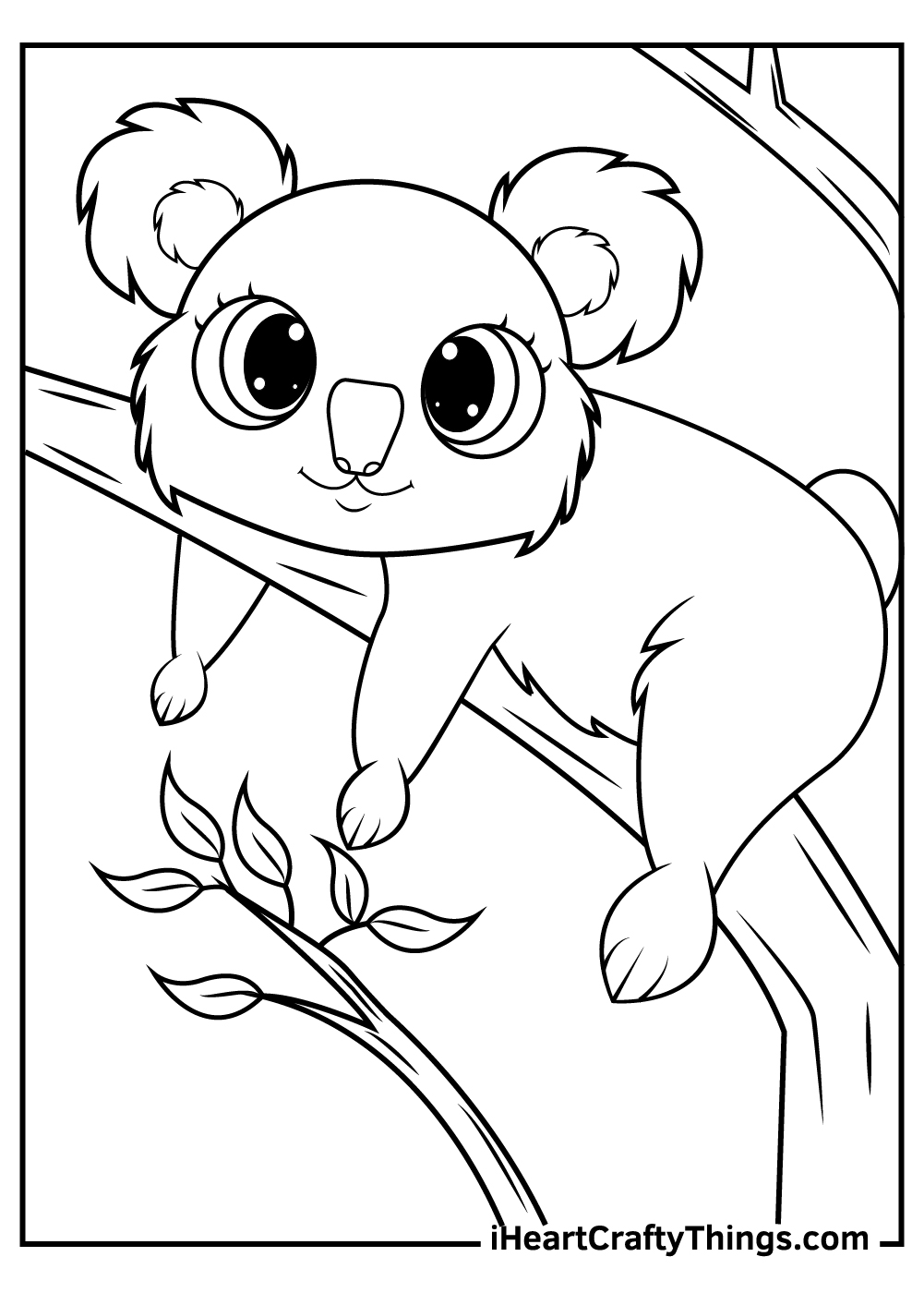 adorable koalas coloring pages for kids