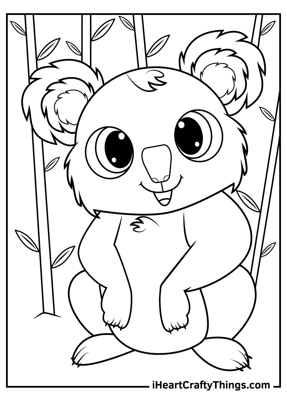 adorable koalas coloring sheets printable pdf