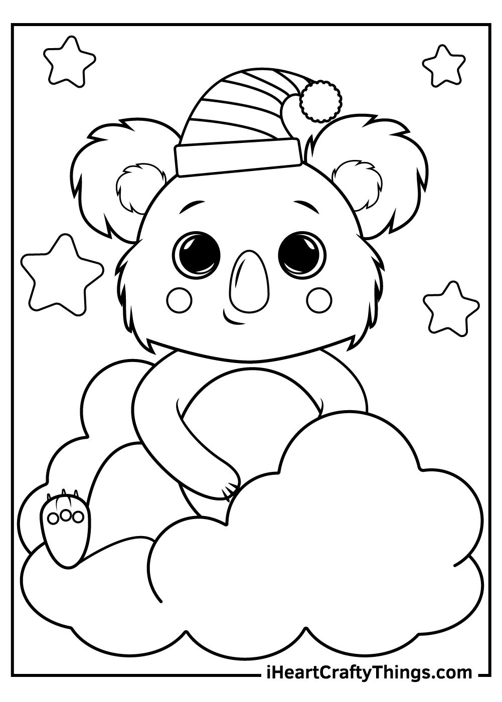 sleepy baby koalas coloring pages download