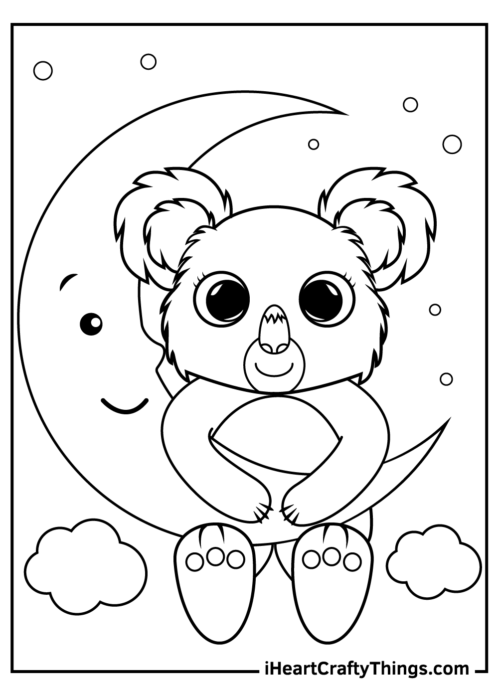 amazing baby koalas free coloring pages