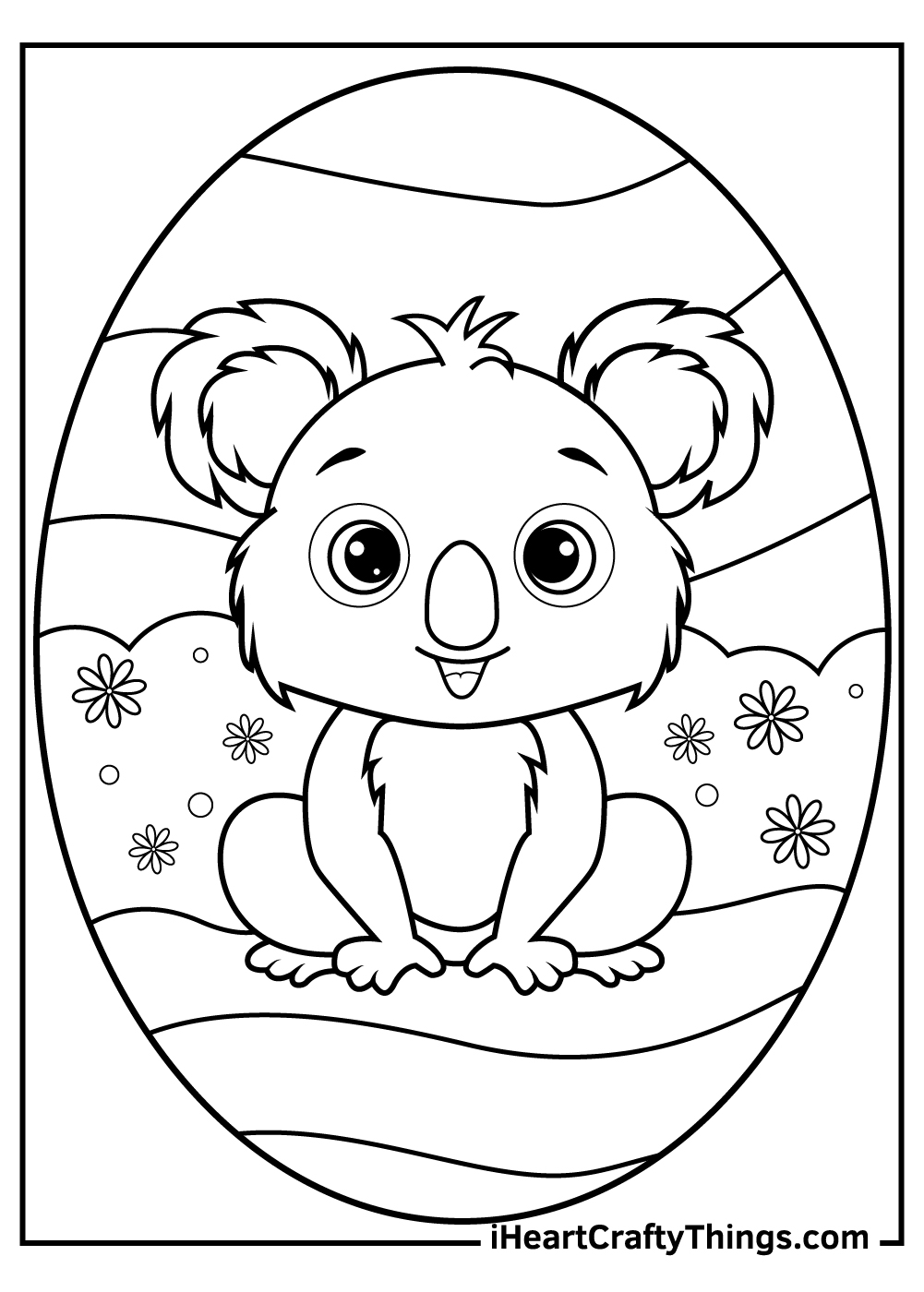 animated baby koalas coloring pages