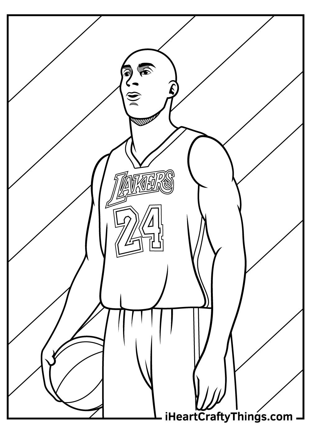 Kobe Bryant Coloring Pages free printable