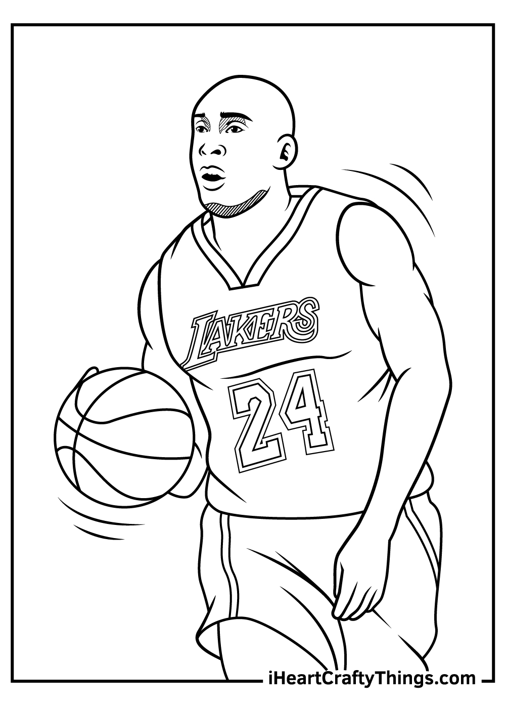Kobe Bryant Coloring Pages free download