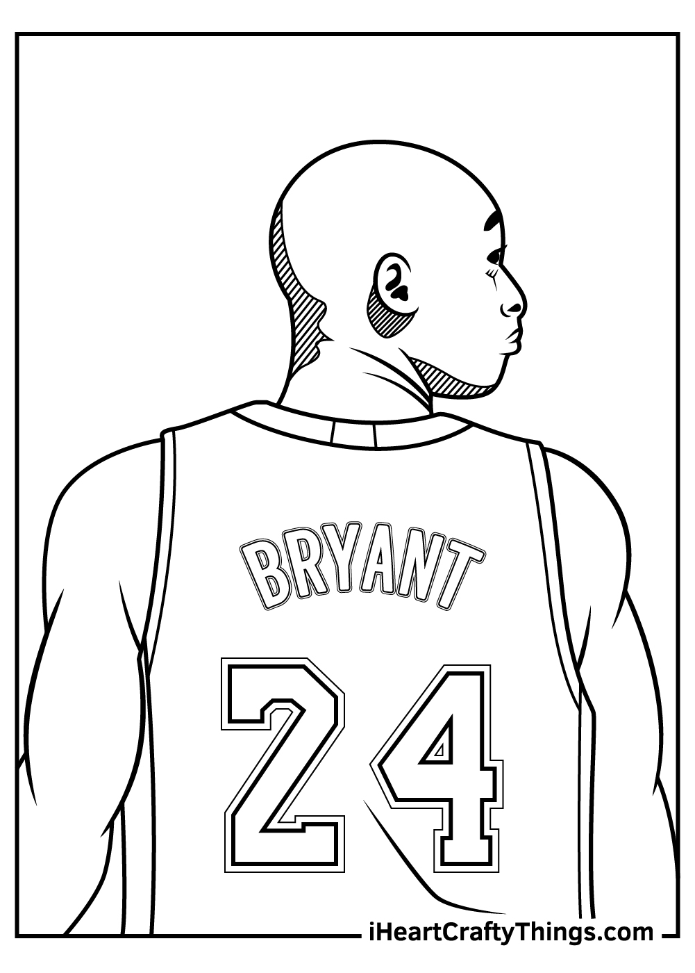 Kobe Bryant Lakers Coloring Pages pdf
