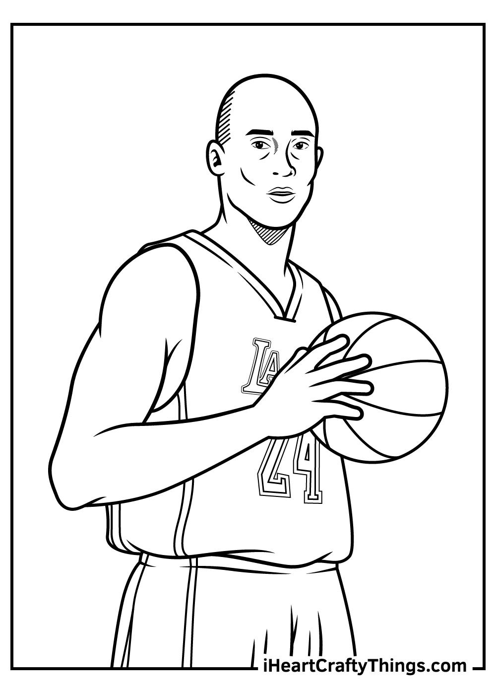 Kobe Bryant black and white image