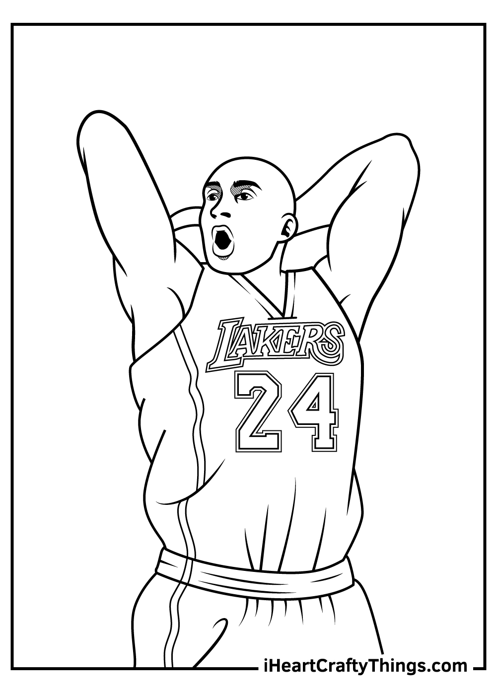 Kobe Bryant Coloring Pages free print out
