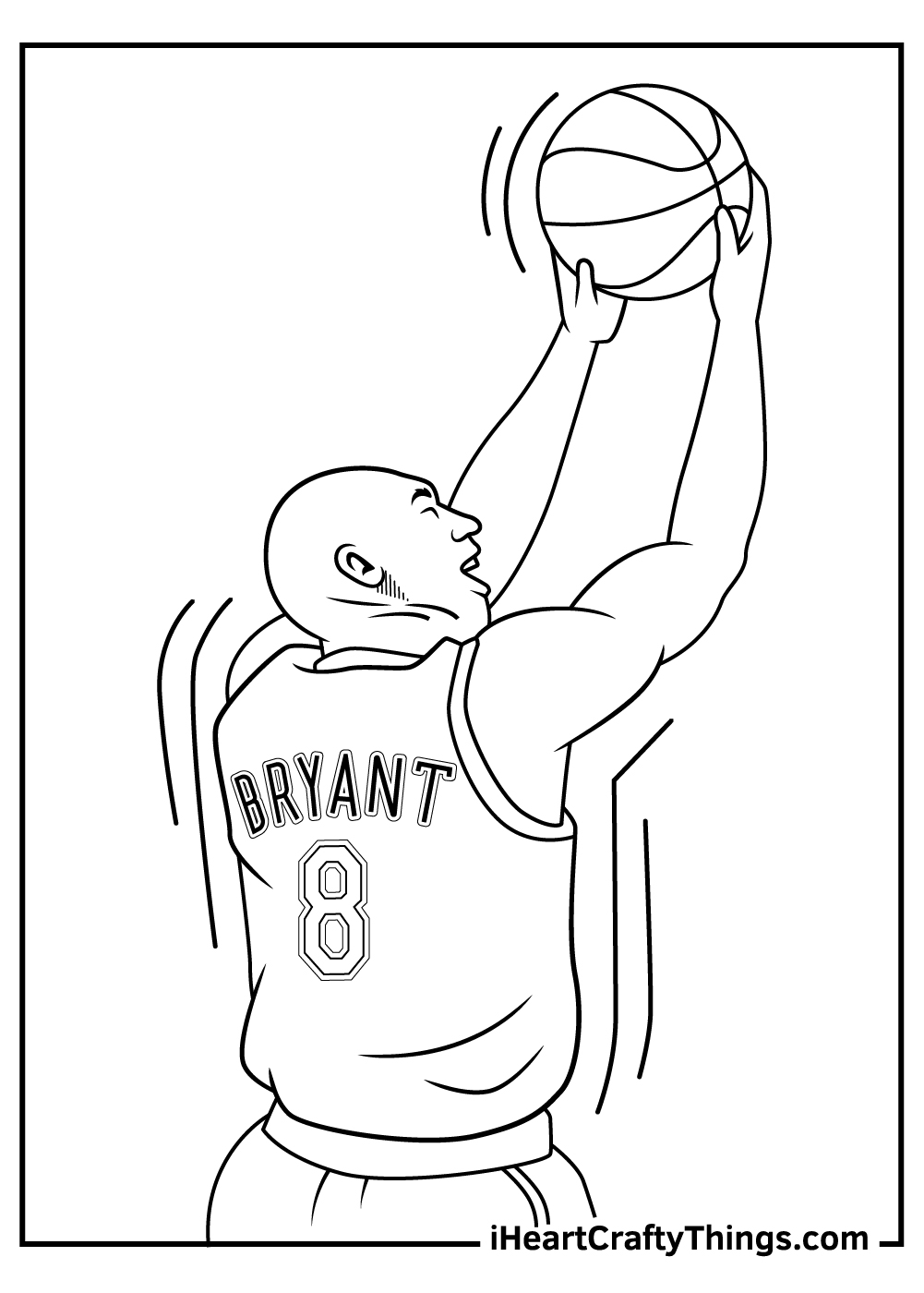 Kobe Bryant Coloring Pages for kids