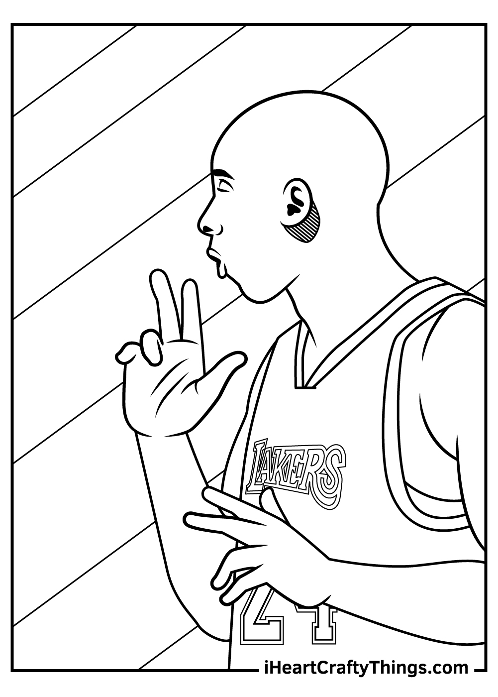 Kobe Bryant Coloring Pages for adults