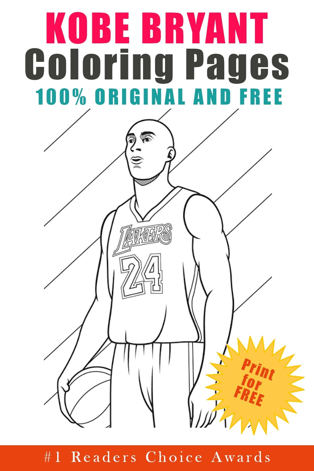 original and free kobe bryant coloring pages