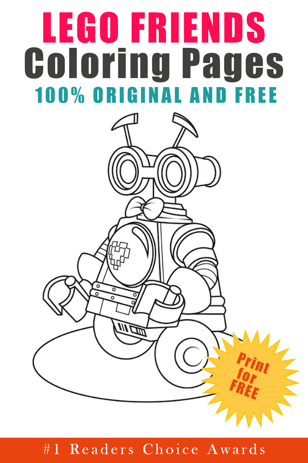 original and free lego friends coloring pages