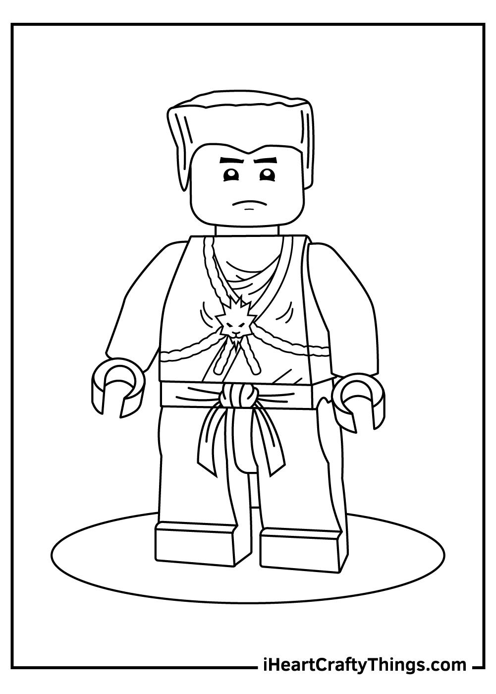 lego ninjago coloring pages kai zx