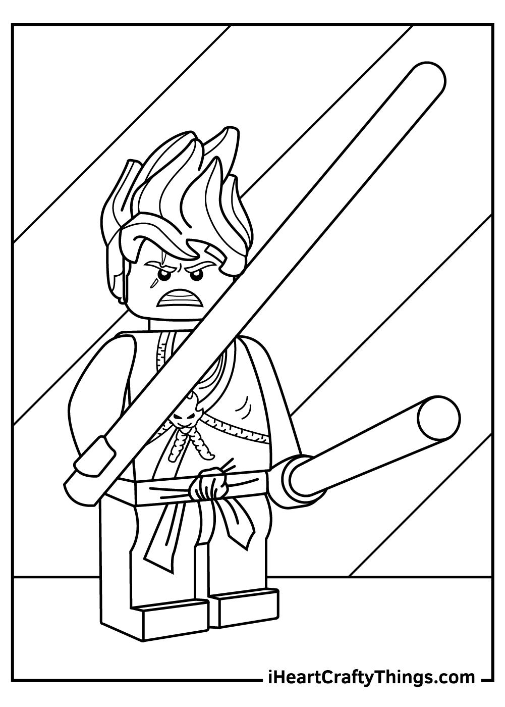 lego ninjago coloring pages jay nunchuck