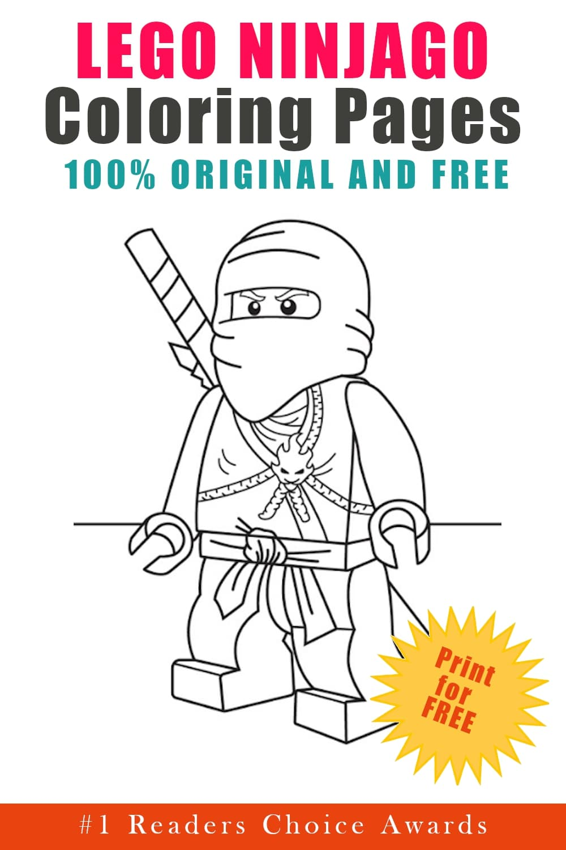 original and free lego ninjago coloring pages
