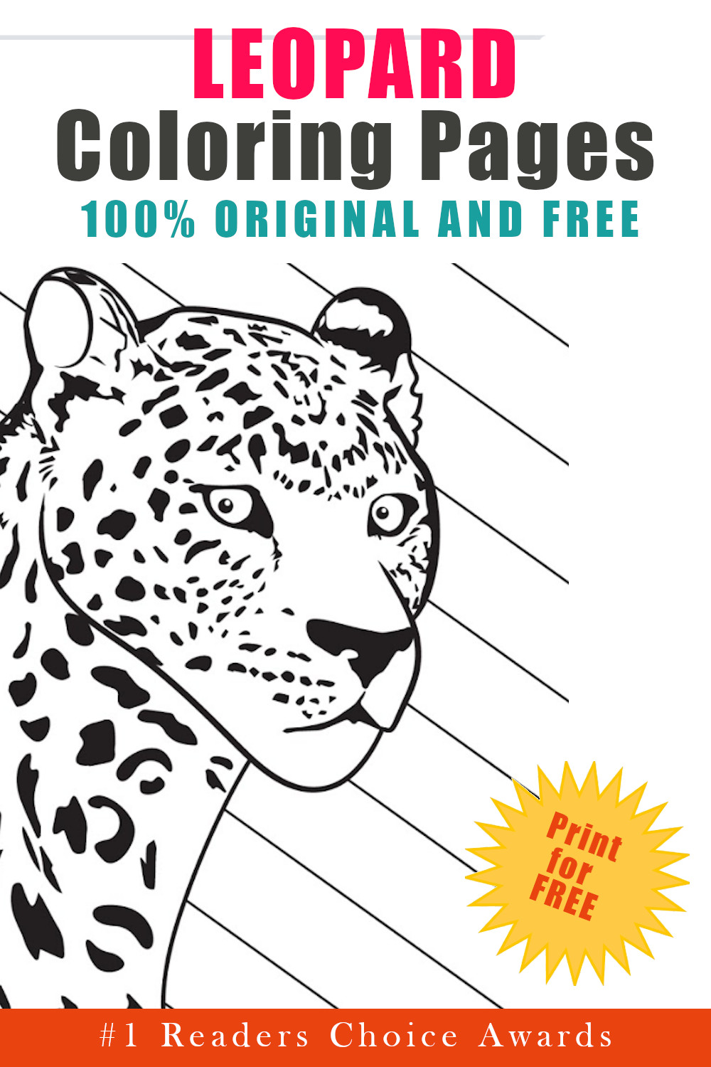 original and free leopard coloring pages