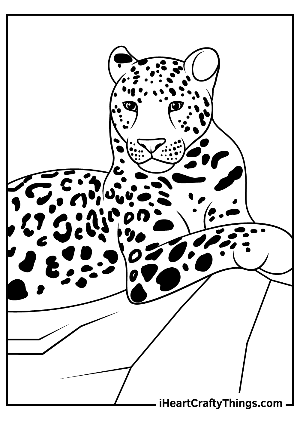 realistic leopards coloring pages free download