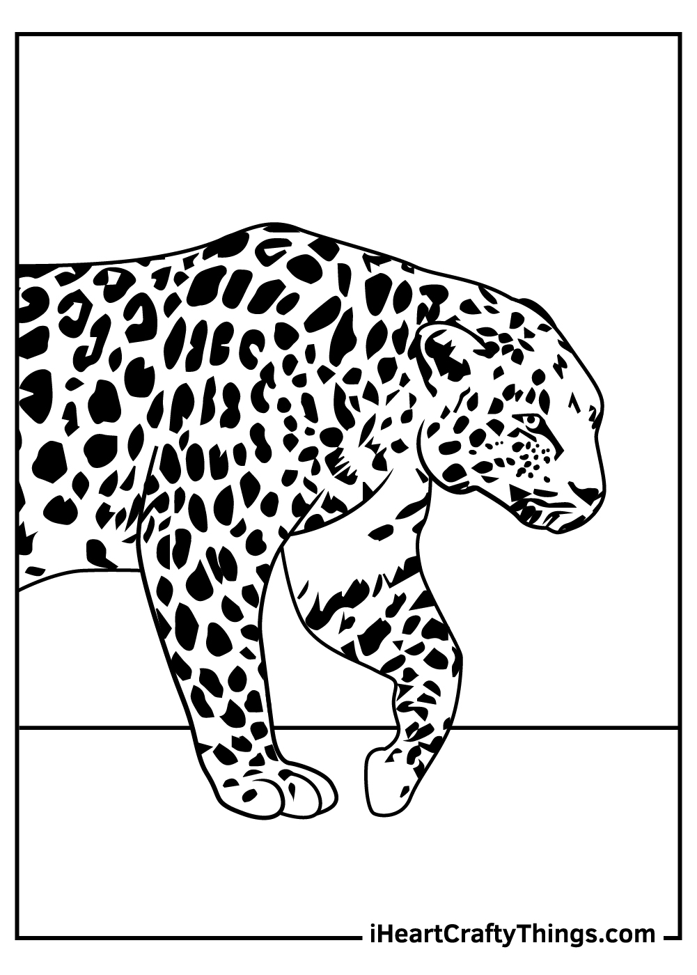 real leopards coloring pages free printable