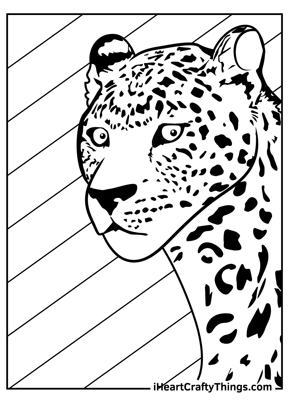 cartoon leopards coloring pages free download