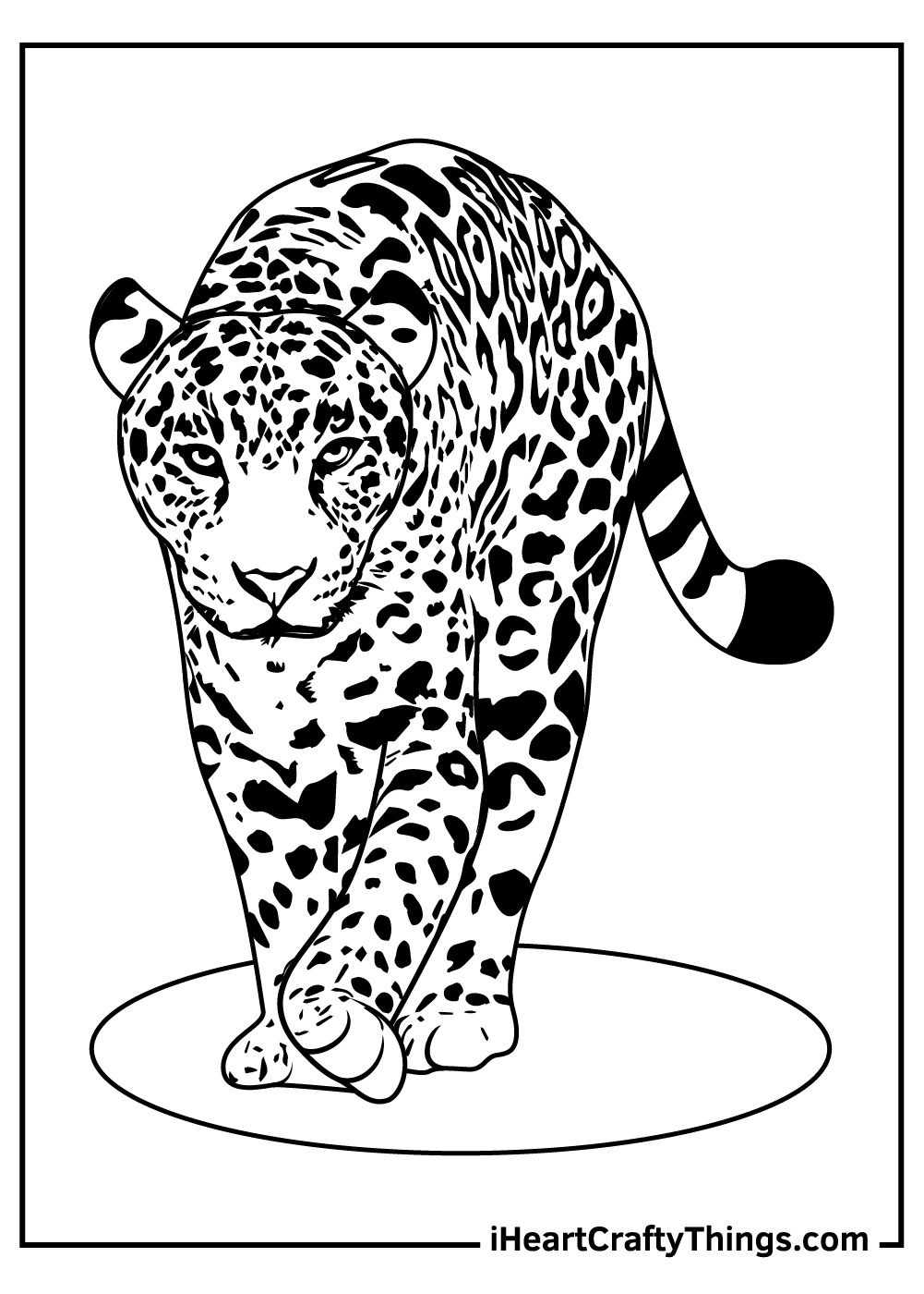leopards coloring pages for kids free download