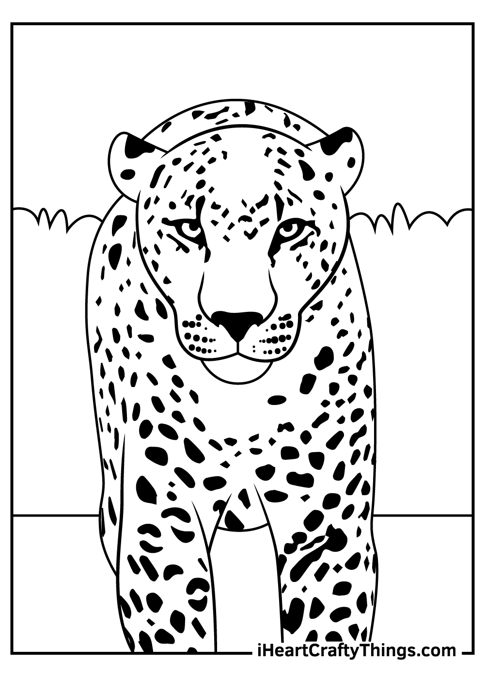 leopards coloring pages for adults free printable