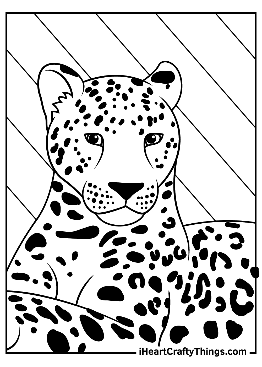 cute realistic leopards coloring pages free download