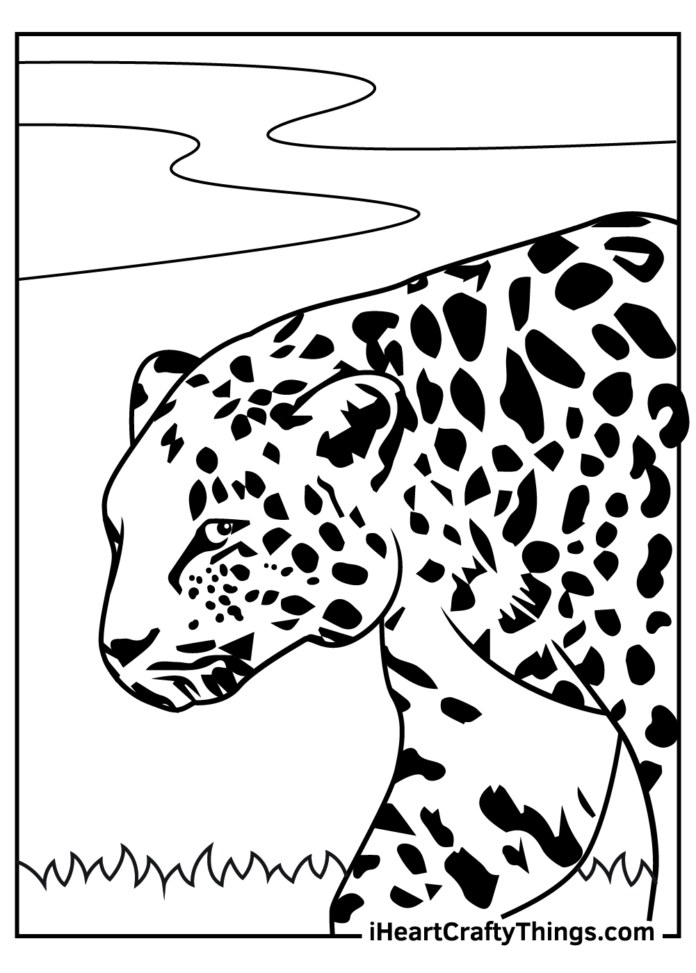 cute leopards coloring pages free printable