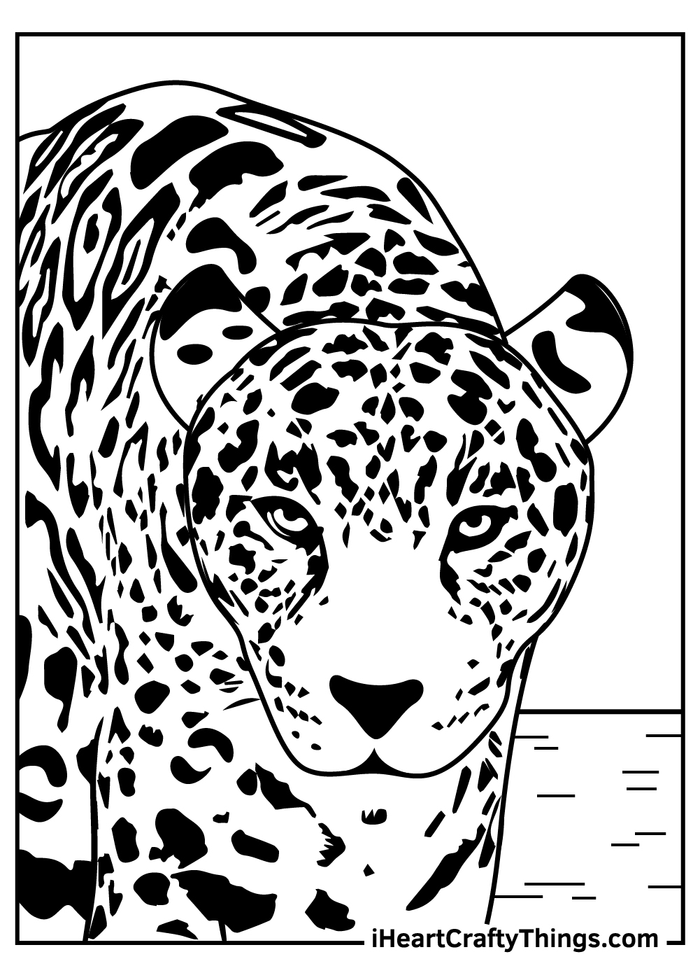 big leopard coloring pages free printable
